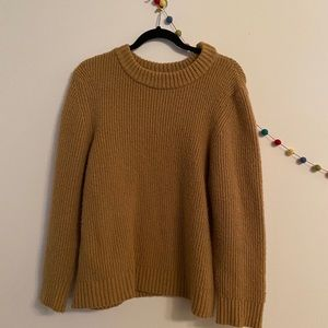 topshop brown/tan chunky knit sweater
